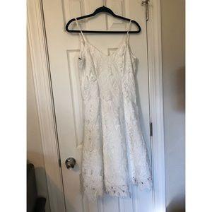 Vera Wang Lace Appliqué Dress
